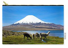 Parinacota Volcano Lake Chungara Chile Carry-all Pouch by Kurt Van Wagner