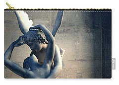 Paris Eros And Psyche Romantic Lovers - Paris In Love Eros And Psyche Louvre Sculpture  Carry-all Pouch by Kathy Fornal