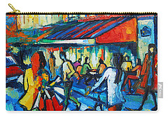 Parisian Cafe Carry-all Pouch by Mona Edulesco