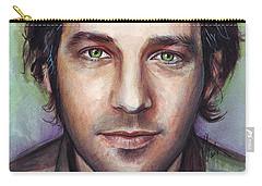 Paul Rudd Portrait Carry-all Pouch by Olga Shvartsur