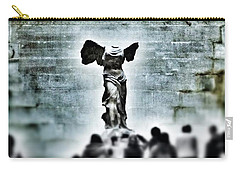 Pause - The Winged Victory In Louvre Paris Carry-all Pouch by Marianna Mills