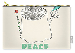 Peace And Love Carry-all Pouch by Eric Fan
