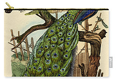 Peacock Carry-all Pouch by French School