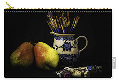 Pears And Paints Still Life Carry-all Pouch by Jon Woodhams