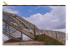 Pedestrian Bridge Over A River, Snake Carry-all Pouch by Panoramic Images