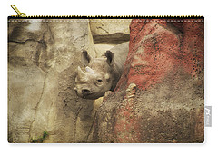 Peek A Boo Rhino Carry-all Pouch by Thomas Woolworth