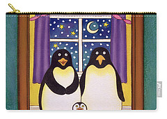 Penguin Family Christmas Carry-all Pouch by Cathy Baxter
