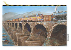 Pennsylvania Railroad On The Rockville Bridge Carry-all Pouch by Christopher Jenkins