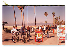 People Walking On The Sidewalk, Venice Carry-all Pouch by Panoramic Images