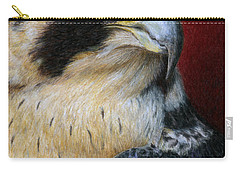 Peregrine Falcon Carry-all Pouch by Pat Erickson