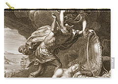 Perseus Cuts Off Medusas Head, 1731 Carry-all Pouch by Bernard Picart