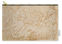Perseus Rescuing Andromeda Red Chalk On Paper Carry-all Pouch by or Zuccaro, Federico Zuccari