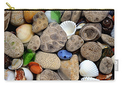 Petoskey Stones Lll Carry-all Pouch by Michelle Calkins