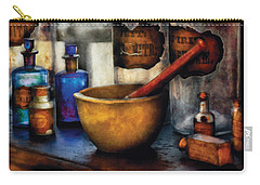 Pharmacist - Mortar And Pestle Carry-all Pouch by Mike Savad