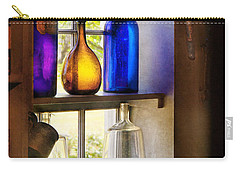 Pharmacy - Colorful Glassware  Carry-all Pouch by Mike Savad