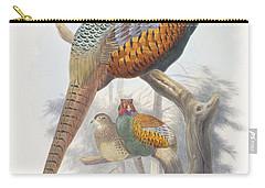 Phasianus Elegans Elegant Pheasant Carry-all Pouch by Daniel Girard Elliot