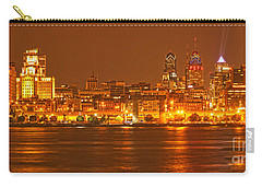 Philadelphia Across The Delaware Carry-all Pouch by Adam Jewell