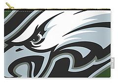 Philadelphia Eagles Football Carry-all Pouch by Tony Rubino