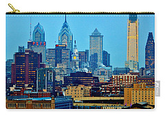 Philadelphia Skyline Carry-all Pouch by Benjamin Yeager