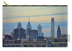 Philadelphia Skyline From Camden Carry-all Pouch by Bill Cannon