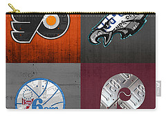 Philadelphia Sports Fan Recycled Vintage Pennsylvania License Plate Art Flyers Eagles 76ers Phillies Carry-all Pouch by Design Turnpike