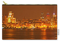 Philly Skyline Panorama Carry-all Pouch by Adam Jewell
