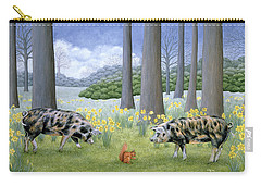 Piggy In The Middle Carry-all Pouch by Ditz