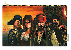 Pirates Of The Caribbean  Carry-all Pouch by Paul Meijering