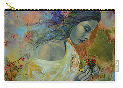 Poem At Twilight Carry-all Pouch by Dorina  Costras