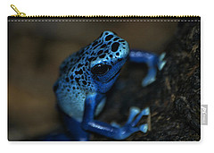 Poisonous Blue Frog 02 Carry-all Pouch by Thomas Woolworth
