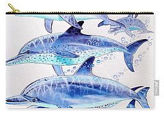 Porpoise Play Carry-all Pouch by Carey Chen