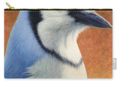 Portrait Of A Bluejay Carry-all Pouch by James W Johnson