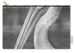 Portrait Of A Pelican Carry-all Pouch by Jon Woodhams
