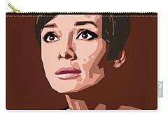 Portrait Of Audrey Hepburn Carry-all Pouch by Douglas Simonson