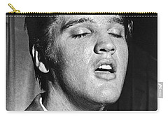 Portrait Of Elvis Presley Carry-all Pouch by Underwood Archives