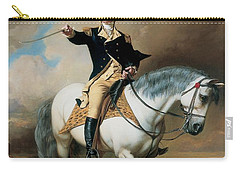 Portrait Of George Washington Taking The Salute At Trenton Carry-all Pouch by John Faed