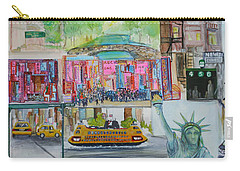 Postcards From New York City Carry-all Pouch by Jack Diamond