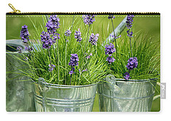 Pots Of Lavender Carry-all Pouch by Amanda Elwell