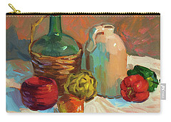Pottery And Vegetables Carry-all Pouch by Diane McClary