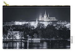 Prague Castle At Night Carry-all Pouch by Joan Carroll