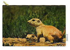 Prairie Dogs On Patrol Carry-all Pouch by Priscilla Burgers