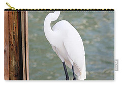 Pretty Great Egret Carry-all Pouch by Carol Groenen