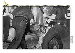 Protester Clubbed In Harlem Carry-all Pouch by Underwood Archives