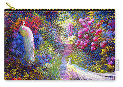 White Peacocks, Pure Bliss Carry-all Pouch by Jane Small