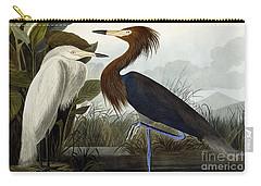 Purple Heron Carry-all Pouch by John James Audubon