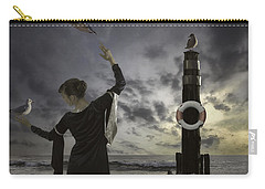 Queen Of The Seagulls Carry-all Pouch by Joana Kruse