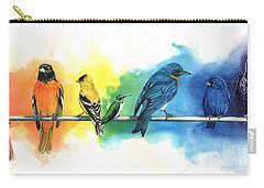 Rainbow Birds Carry-all Pouch by Antony Galbraith