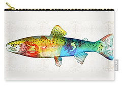Rainbow Trout Art By Sharon Cummings Carry-all Pouch by Sharon Cummings