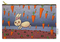 Raining Carrots Carry-all Pouch by James W Johnson