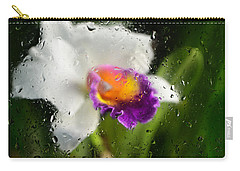 Rainy Day Orchid - Botanical Art By Sharon Cummings Carry-all Pouch by Sharon Cummings